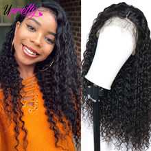 Upretty Hair Deep Wave Wig Pre Plucked Lace Front Human Hair Wigs 180 Density 13x6 Deep Part Curly Brazillian Lace Front Wig(China)