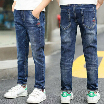 Autumn Spring Baby Boys Jeans Pants Kids Clothes Cotton Casual Children Trousers Teenager Denim Boys Clothes 4-14Year 1
