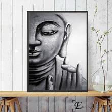 Дзен Будда абстрактный плакат и печать холст искусство живопись настенные картины для гостиной украшение дома без рамки