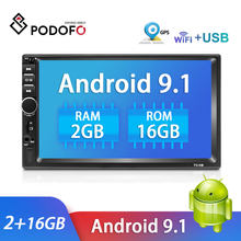 Podofo Radio samochodowe Android odtwarzacz multimedialny Autoradio 2 Din 7 ''dotykowy odtwarzacz z ekranem Stereo z GPS Bluetooth FM WIFI Mirror Link