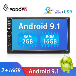 Podofo Car Radio Android Multimedia Player Autoradio 2 Din 7'' Touch screen Player Stereo With GPS Bluetooth FM WIFI Mirror Link
