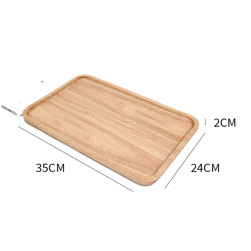 Wooden Round Storage Tray Plate Tea Food Dishe Drink Platter Food Plate Dinner Beef Steak Fruit Snack Tray Home Kitchen Decor - Цвет: 14