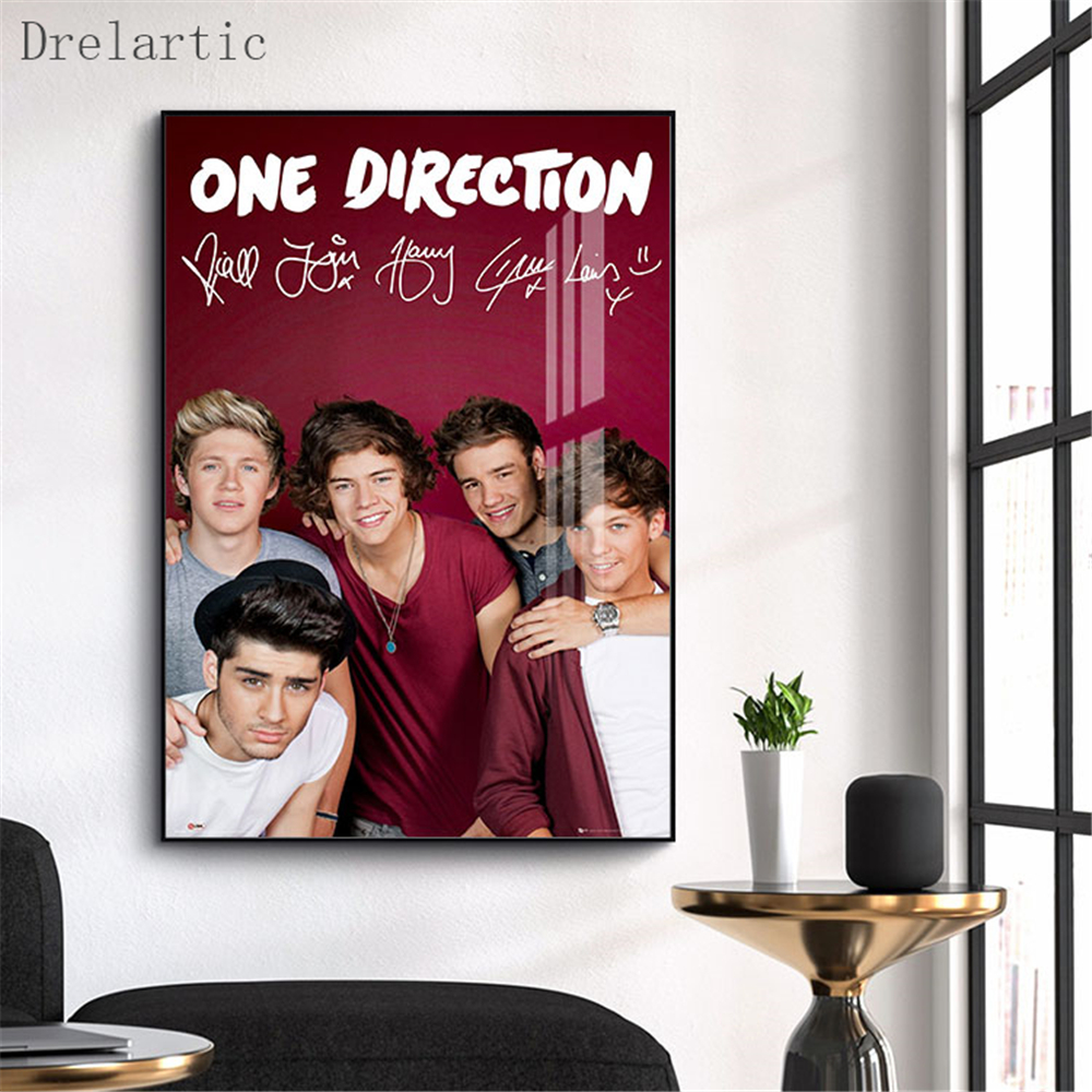 Canvas Poster One Direction Printing Posters Cloth Fabric Wall Art  Pictures For Living Room Decor#20-1005-17