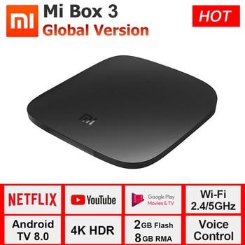 Xiaomi MI Box 3 Android TV 8.1 Set Top Box 2G+8G Google Player Youtube BT Dual-Band WIFI Xiaomi MI Box 3 Android TV 8.1 4K