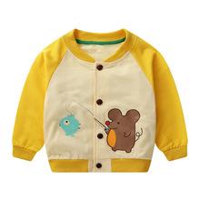 Wiosna jesień małe dziewczynki płaszcz kurtka Casual płaszczyk dziecięcy dla chłopca dziecięca odzież wierzchnia noworodek odzież dla niemowląt Sport odzież dziecięca tanie tanio Na co dzień COTTON CN (pochodzenie) Zwierząt REGULAR O-neck Kurtki płaszcze Pełna Pasuje prawda na wymiar weź swój normalny rozmiar