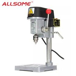 ALLSOME 220V 340W Elektrische Bohrer Stehen Mini Tisch Top Bench Bohrer Ständer Halter DIY Halterung Befestigt Rahmen