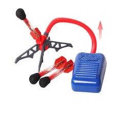 Kid Air Pump Jump Stomp Blower Foam Gun Model Launch Launcher Rocket Pop Up Toy Sports Toys For Boys Kids Children Baby Gift