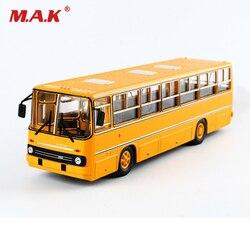 25cm speelgoed voor kinderen IKARUS-260 1/43 Rusland Icarus Bus Model Dubbeldekker Auto Sovjet Speelgoed Diecast Geel kinderen speelgoed