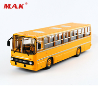 25cm toys for children IKARUS 260 1/43 Russia Icarus Bus Model Double decker Car Soviet Toy Diecast Yellow kids toys