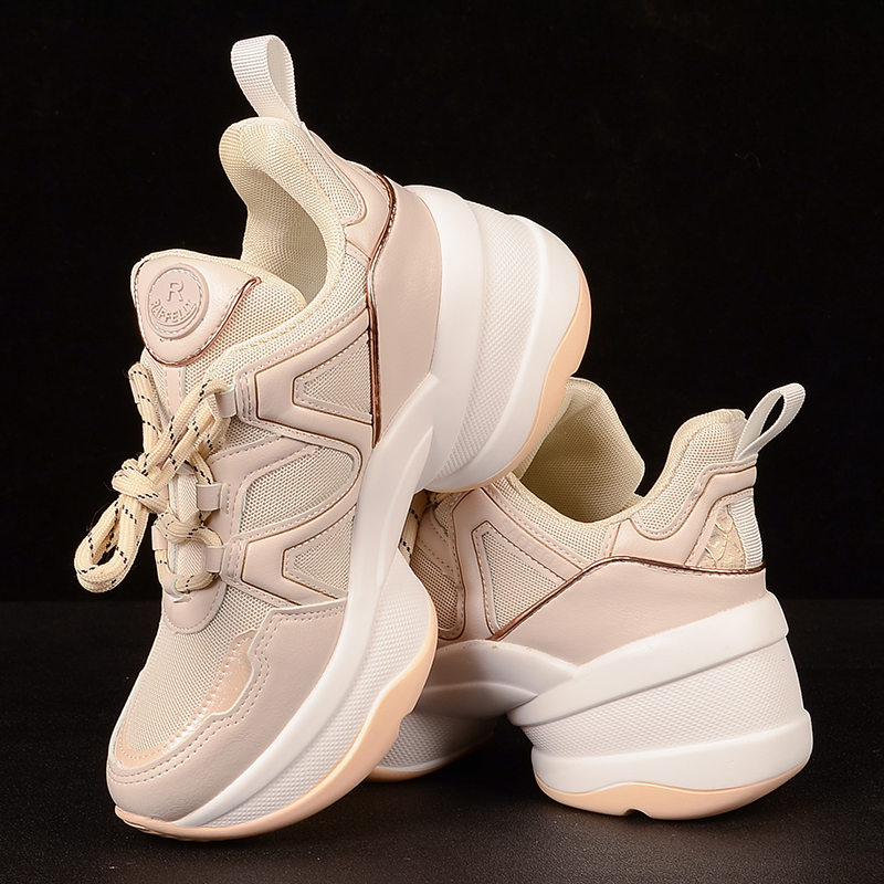 Chunky Sneakers Women High Platform Shoes Breathable Air Mesh Sneakers Women Casual Shoes 2019 Chunky Trainers Dad Shoes