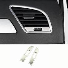 AC çıkışı Trim tamir hava çıkış çerçeve dekorasyon çıkartmaları kapakları Audi marka A4 B8 A5 2009-2016 araba iç trim LHD