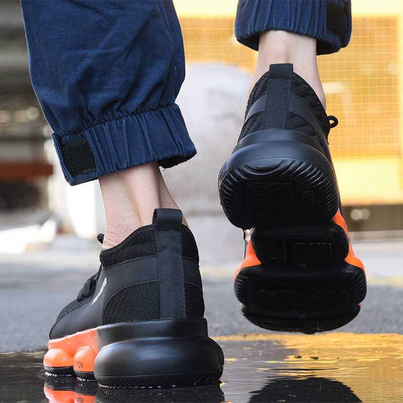 Nieuwe tentoonstelling Mannen Werken veiligheidsschoenen 2019 mode Outdoor Stalen Neus Anti-smashing Punctie Proof Constructie sneakers Laarzen