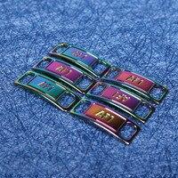 1 paire colorée magnétique plat lacet boucle serrure rapide sans lacet 1 seconde rapide sans cravate lacets plats paresseux chaussure lacets boucle