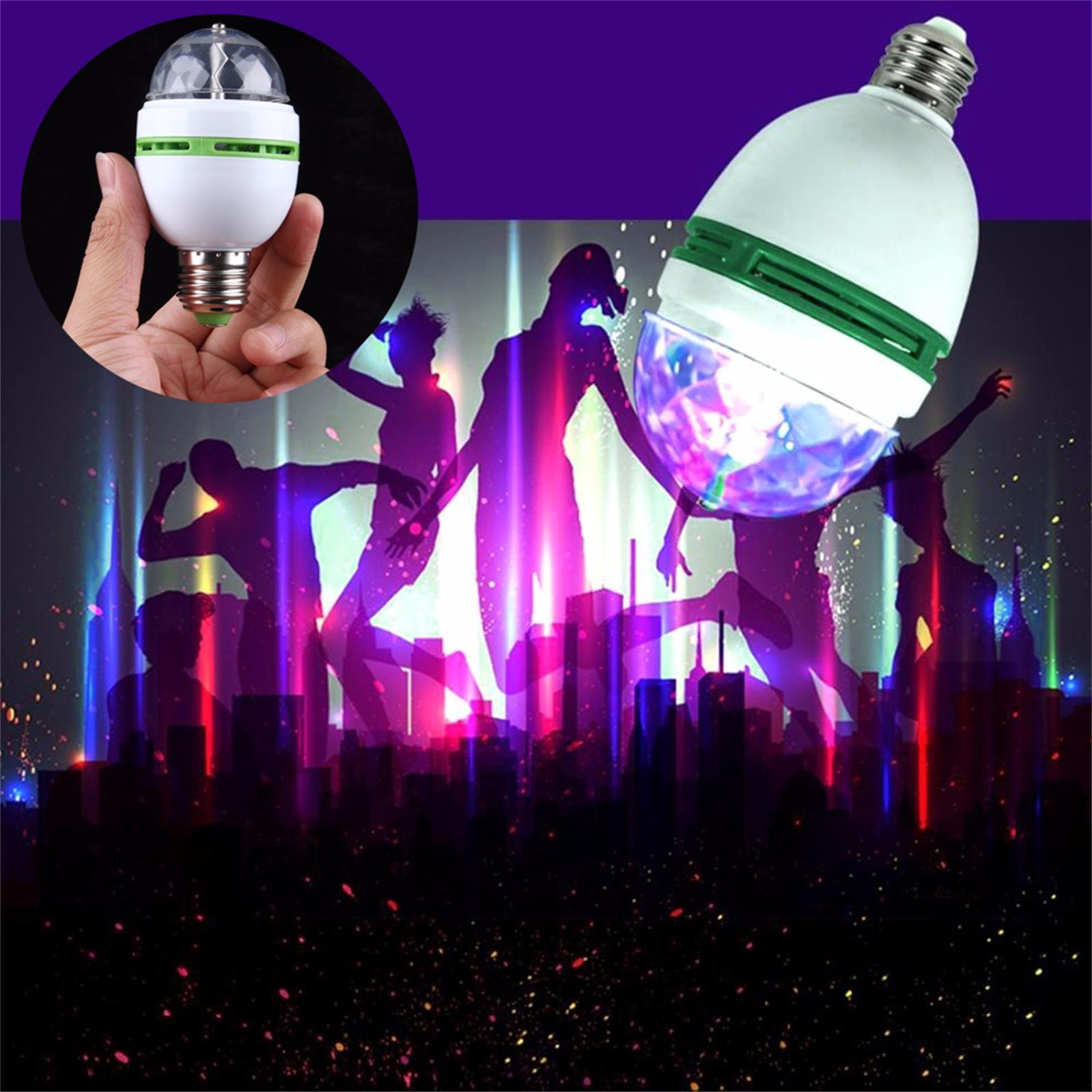 NEW E27 3W AC 90-260V Colorful Auto Rotating RGB LED Bulb Stage Light Disco DJ Party Lamp Holiday Bulb For Xmas Bar KTV Lighting