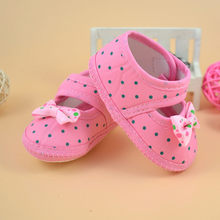 Baby Bowknot Boots Soft Crib Shoes Baby Girl Print Toddler Shoes Buckle Single Shoes Newborn Baby Girls Printing Flower#35(China)