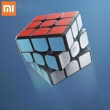 الأصلي شاومي الأصلي بلوتوث ماجيك كيوب الذكية بوابة الربط 3x3x3 مربع المغناطيسي مكعب لغز العلوم التعليم لعبة هدية
