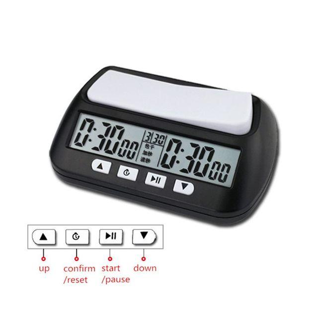 Horloge d'échecs professionnelle unisexe montre numérique compacte compte à rebours minuterie électronique jeu de société Bonus compétition compteur horaire 4