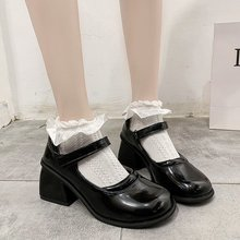 Women Shoes Japanese Style Lolita Shoes Women Vintage Soft High Heel Platform shoes College Student Mary Jane shoes 2021