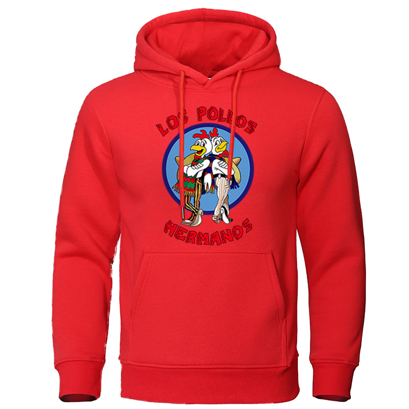 Men's Hoodies 2019 Autumn Winter Letter Print LOS POLLOS Hermanos Male Sweatshirts Chicken Brothers Pullovers High Quality Tops