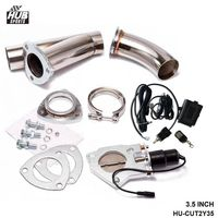3.5Electric Exhaust Catback Downpipe Cutout E Cut Out Valve Switch Control+Remote For TOYOTA SUPRA JZA80 HU CUT2Y35