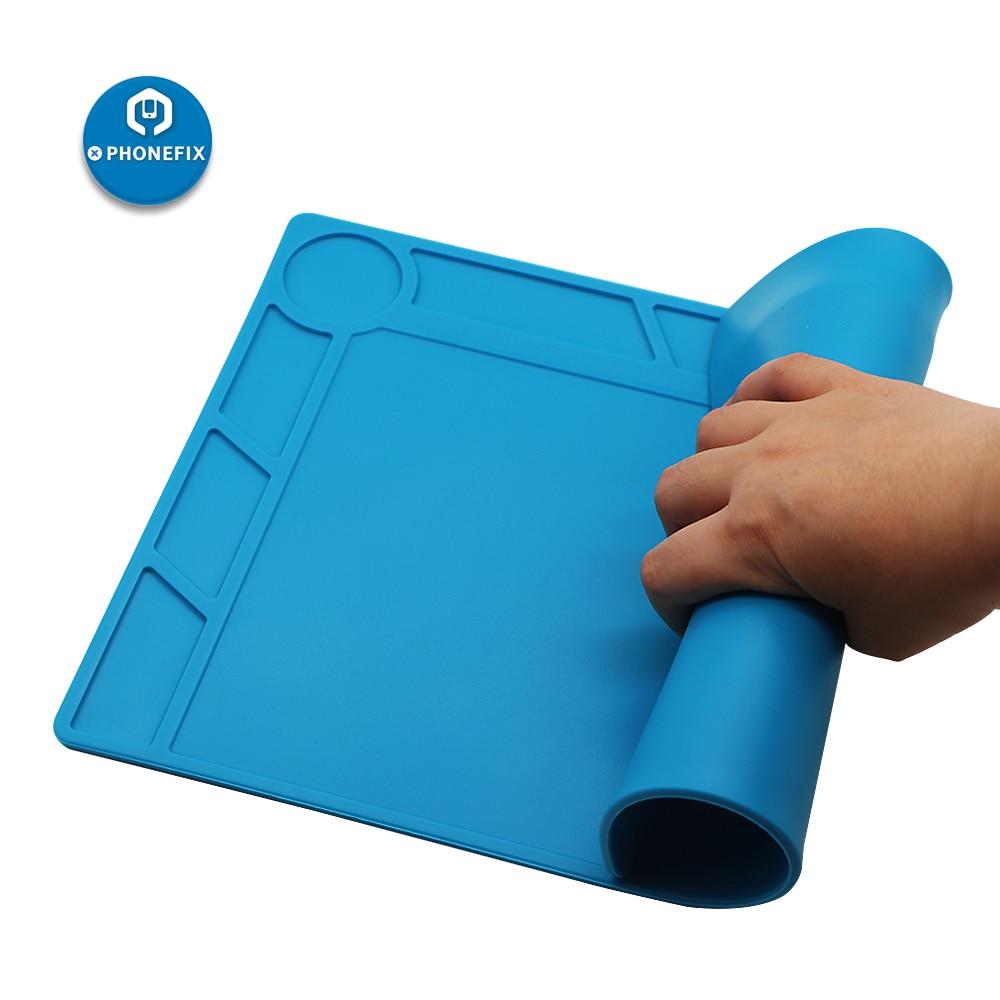 34cm*23cm High Temperature Soldering Mat Working Pad Desk Mat Repair Platform For IPhone Samsung Cellphone Repair Silicone Pad