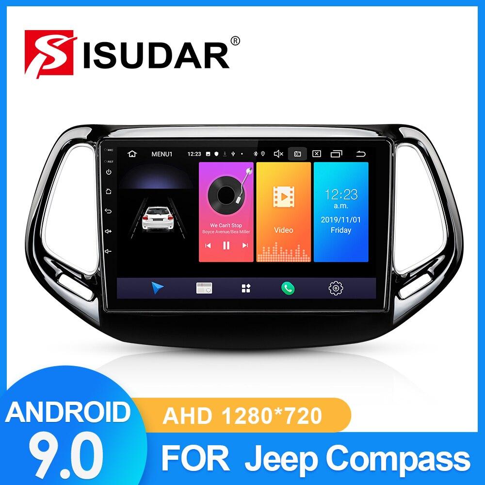 ISUDAR-Autoradio pour Jeep boussole   Autoradio, pour 2 MP 2016 2017 2018 2 din, Android 9, GPS multimédia, caméra DVR, RAM, 2 go ROM 32 go USB