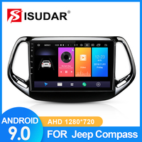 ISUDAR Car Radio For Jeep Compass 2 MP 2016 2017 2018 2 din Android 9 Autoradio Multimedia GPS DVR Camera RAM 2GB ROM 32GB USB
