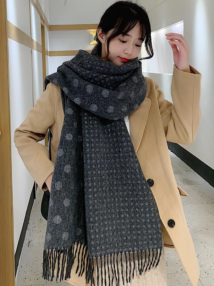 Brand Scarf  Women Winter Scarf Thickening Lengthening Shawling Korean Fashion Warm Necks Women Autumn Winter Scarf Heart Gifts