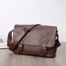 SCIONE New Men's Bags Pu Leather Single Shoulder Bag Male Vintage Crossbody Bags For Men Casual Messenger Bag Dropshipping men casual canvas colid cover zipper male crossbody bag bolsa masculina men s messenger bags vintage single shoulder bags page 5