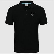 2020 nowa koszulka Polo RF roger federer logo bawełniana koszulka Polo z krótkim rękawem duża ilość koszulki polo