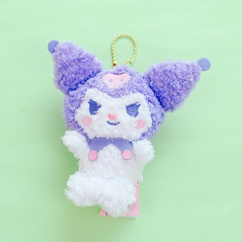 1Pc New Japanese Animie Melody Kuromi PC Plush Toys Soft Pudding Dog Plush Dolls Bag Pendant Keychain Girl Gifts