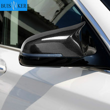 carbon fiber side wing mirror covers for bmw f10 sedan 528i 535i 2012 2014 add on style rearview mirror caps car styling For BMW 5 6 7 Series F10 F18 F11 F06 F07 F12 F13 F01 2014 2015 2016 2pcs Mirror Covers Left Right Side Rearview Mirror Cover Ca