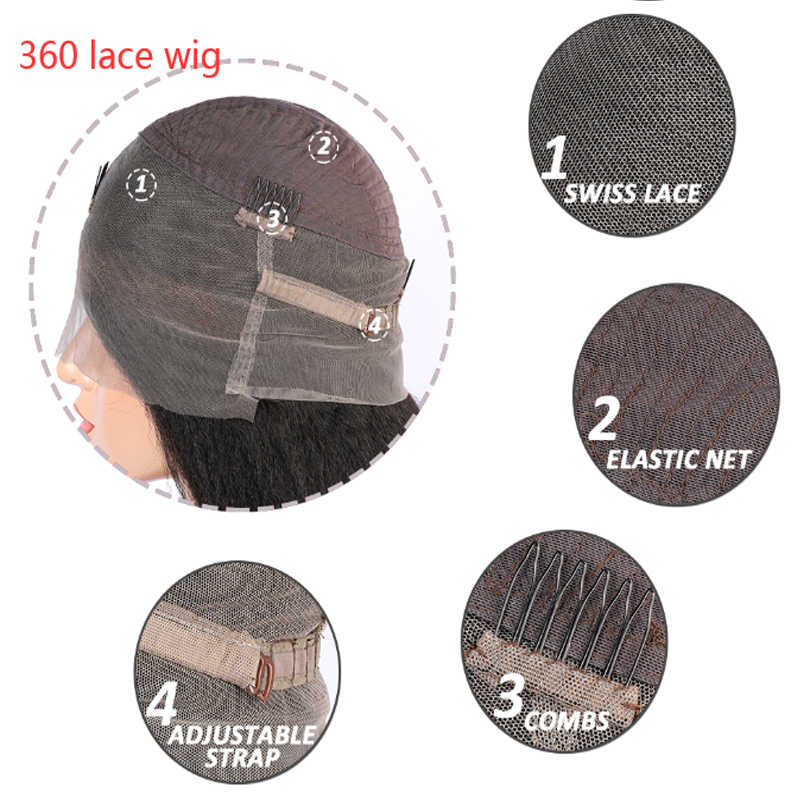 Malaysian Body Wave 360 Lace Front Human Hair Wig Pre Plucked For Black Women Glueless 22.5x4 Natural Color Frontal Wig Remy