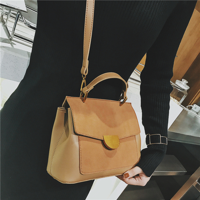 Burminsa Winter Suede Women Messenger Bags Small Soft PU Leather Handbags Retro High Quality Young Ladies Shoulder Bags 2019 1
