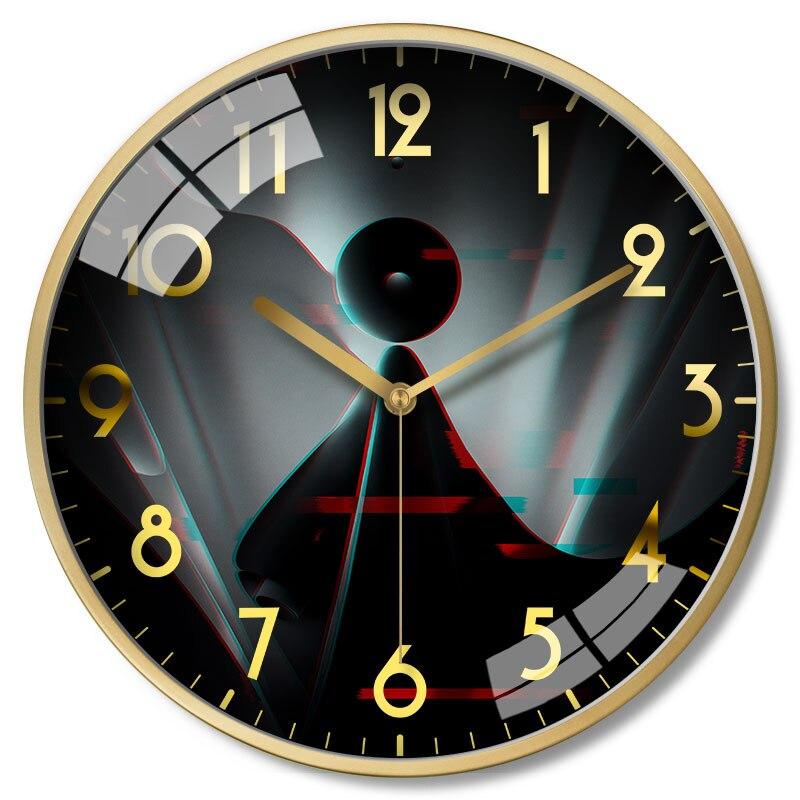 Grandes horloges murales décor à la maison en métal salons montre maison luxe horloge murale moderne tenture murale horloge cuisine Saat cadeau FZ262