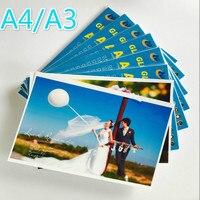 100 blätter/paket A4A3 Hohe Qualität 200g230g260g Hochglanz Inkjet Wasserdichte Farbe Foto Papier Laser Druck Foto Papier