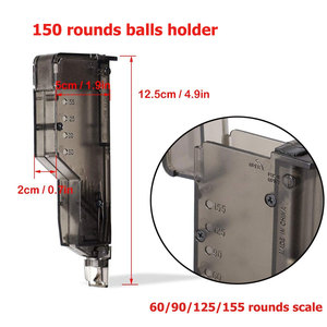 Image 4 - Airsoft BB Speed Loader Quick Release 155 Rounds Paintball Loader Tactical  War Game BB Balls Loader Shooting Accessories