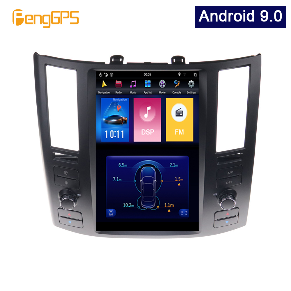 Android 9.0 Tesla Vertical Screen Car DVD Player GPS Navigation For Infiniti FX35 for FX45 2004-2008 multimedia Audio 10.4 inch