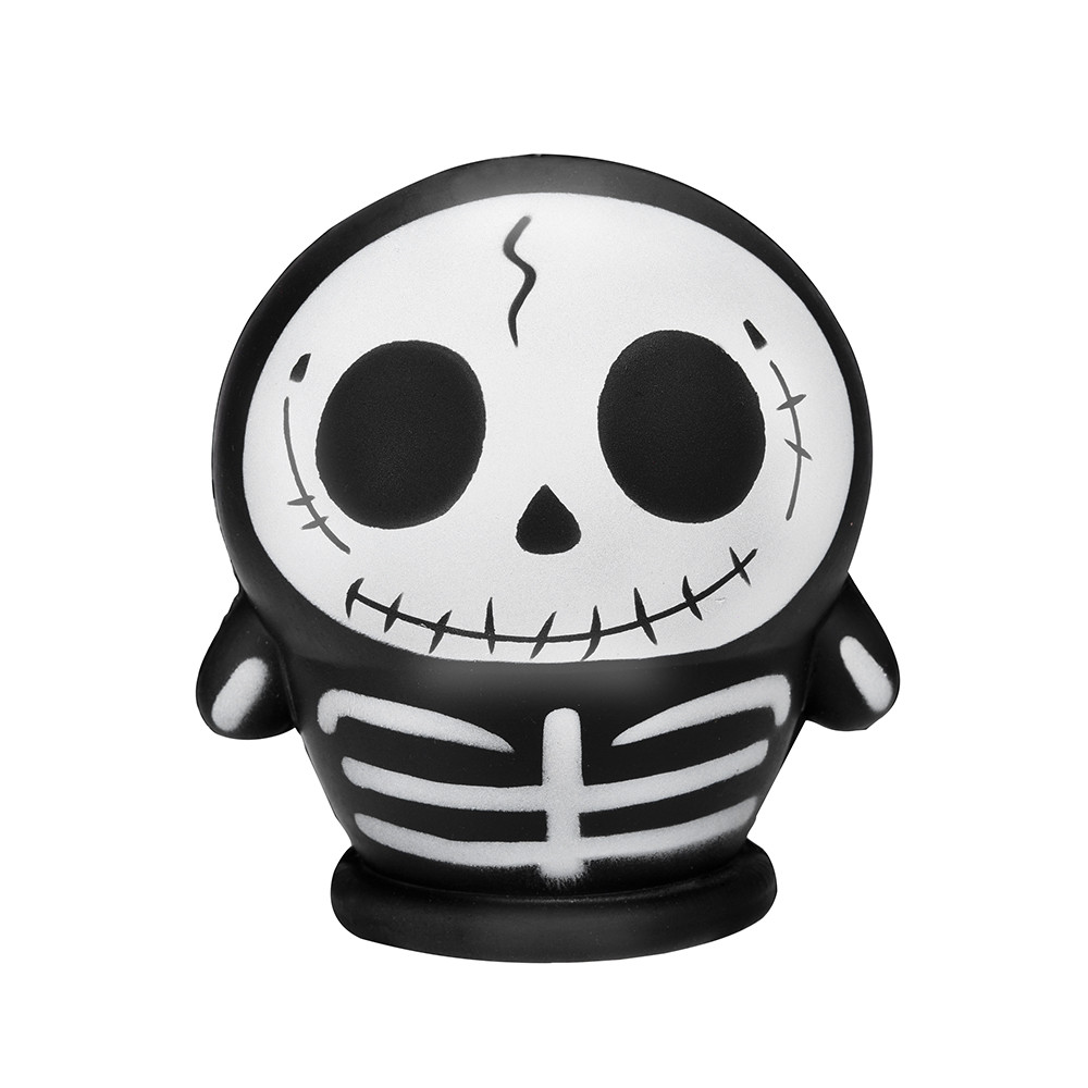 Simulation Skull Man Slow Rebound Toy Skulll Scented Squishies Slow Rising Kids Funny Toys  Stress Relief Hop Props L108