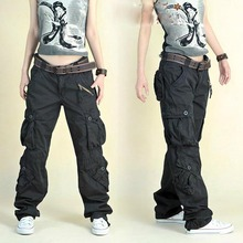 Free Shipping 2020 New Arrival Fashion Hip Hop Loose Pants Jeans Baggy Cargo Pants For Women
