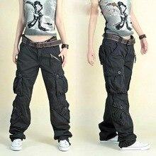 O envio gratuito de 2020 nova chegada moda hip hop calças soltas jeans baggy carga calças para as mulheres