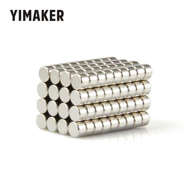 YIMAKER 50PCS 5x3mm Neodymium Magnet Super Strong Rare Earth Magnet Round Powerful Small Magnetic Magnets