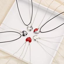 2Pcs Magnetic Couple Necklace Astronaut Lovers Hea