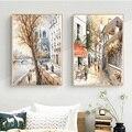 Абстрактный парижском уличном сена пейзаж холст картина маслом на холсте плакат и печать, Картина Настенная для Гостиная Nordic украшения