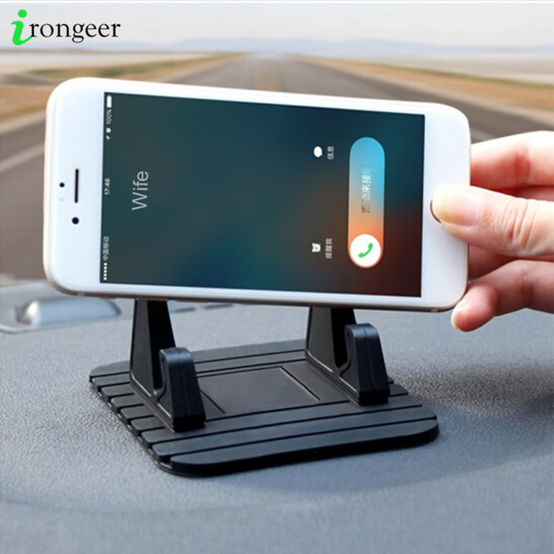 Phone Holder For Xiaomi Mi Note 10 Pro Bracket Car Dashboard Non-slip Rubber Mat Phone Mount Holder For iPhone 11 XR Phone Stand(China)