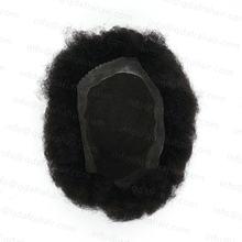 "Hstonir 7x95 ""1b # мужской афро парик швейцарский кружево"