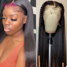 Wigs Human-Hair-Wigs Virgin-Hair Lace-Frontal Hair-13x6 Berrys Fashion Straight Black Women