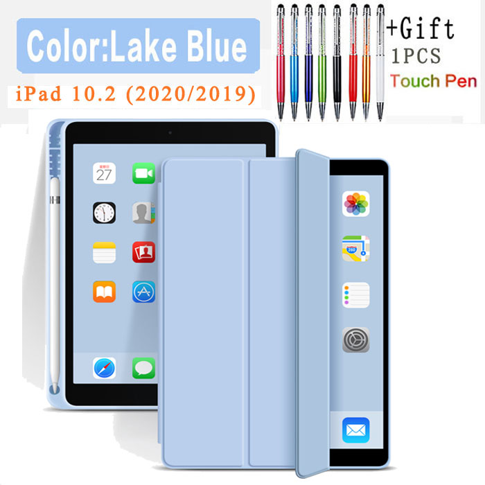 Flip Case-ice blue Other Silicone Case For iPad 10 2 2020 2019 Pu flip leather case For iPad 10 2