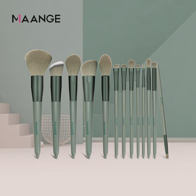 MAANGE 13pcs Quick-Drying Makeup Brush Set With Bag Soft Blush Loose Powder Highlight Eye Shadow Brush Portable Beauty Tool 2