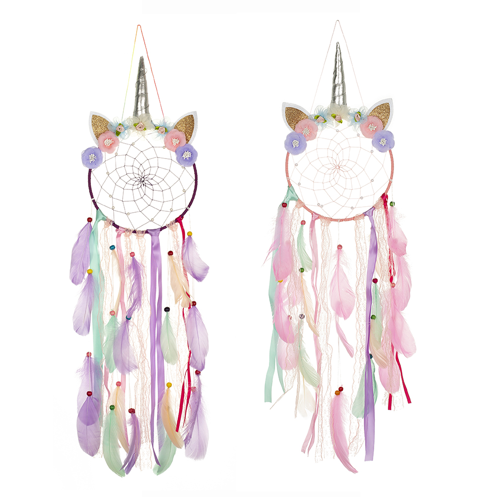 Unicorn Dream Catcher Decoration Bedroom Room Decor For Girls Kids Baby Wall Hanging Hook Children Room Decoration Dreamcatcher Wind Chimes Hanging Decorations Aliexpress